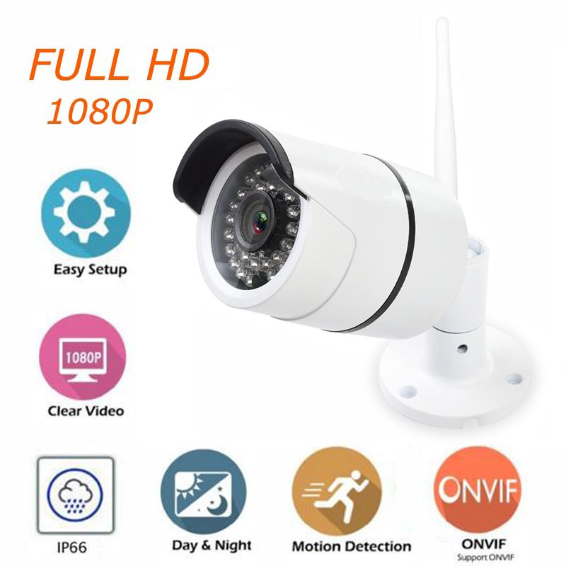 1080P HD IP Camera Outdoor Wireless Bullet Camera 1080p Waterproof Surveillance Camera with IR CUT Night Vision ONVIF bullet camera tube camera headset holder with varied size in diameter
