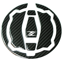 MTKRACING 3D Carbon Fiber Tank Gas Cap Pad Filler Cover Sticker Decals Fit KAWASAKI Z900 Z650 2017