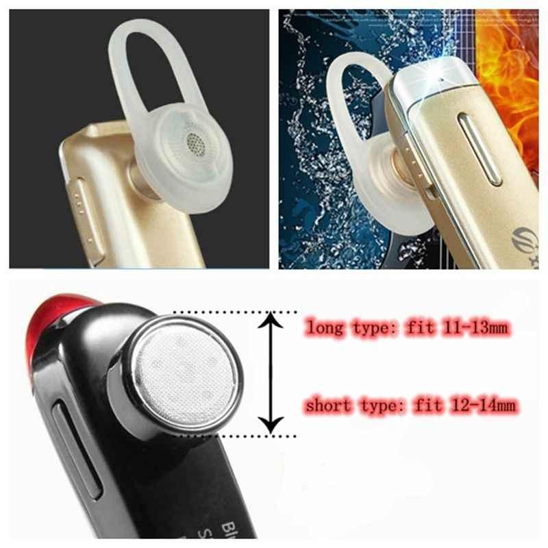 2 sztuk miękkiej gumy krzemu wymiana słuchawki douszne szpiczasty wkładek dousznych dla słuchawki Bluetooth