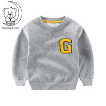 Children's clothing autumn Kid's sweater fleeing new and new clothes baby shirt warm boy long-sleeved sportswear casual clothes