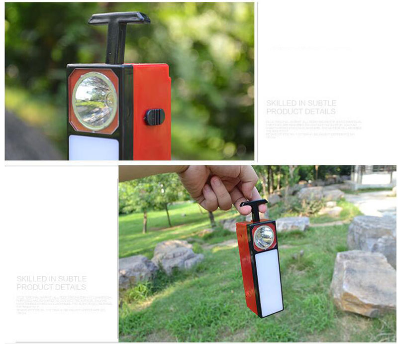 LED Solar flashlight protable flash light Torch Outdoor Tent Lights 2 way Lantern Color reading lights for camping rechargeable