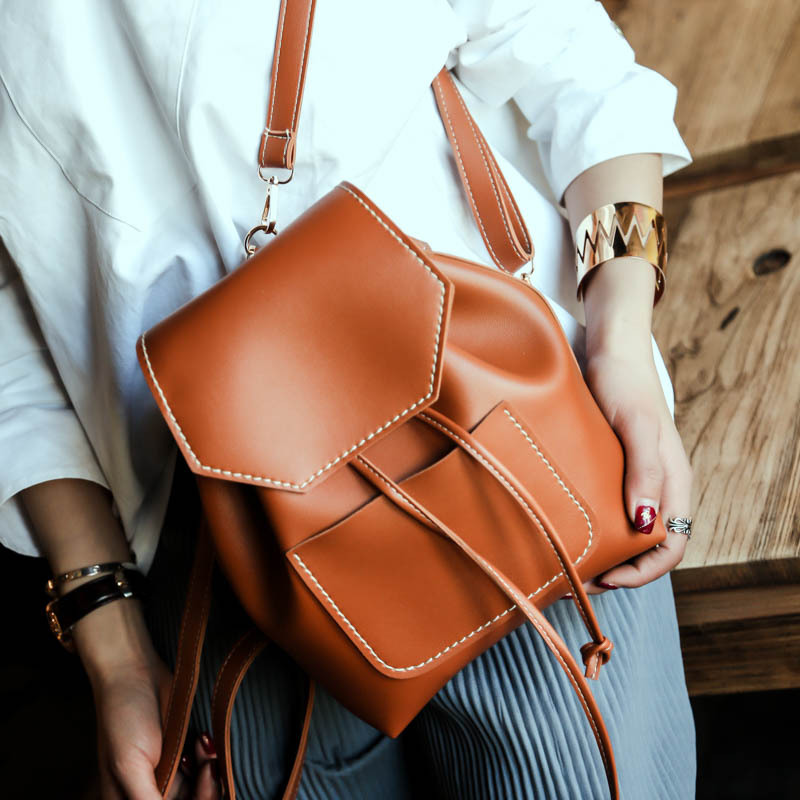 new simple preppy style solid women rucksack hotsale lady multifunction shoulder bags student school backpacks feminina