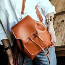 Новый простой опрятный стиль твердые женщины рюкзак hotsale леди многофункциональный плеча сумки студент школы рюкзаки feminina рюкзак
