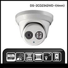 Hik DS-2CD2342WD-I (4mm) 2016 Nueva Versión Inglés Multi Idioma Cámara Domo de INFRARROJOS IP Cámara de 4.0 megapíxeles IP cámara Al Aire Libre