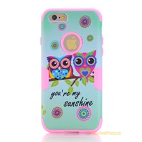 Lovely Pattern Silicon Hybrid Case For Apple Iphone 6 Durable Shockproof Protective Shell Cover Hard Phone