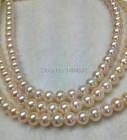 Naturalne perły słodkowodne paciorek sploty, aaa ivory biały okrągły luźne koraliki biżuteria pearl-6.5-7.5mm-darmowa wysyłka