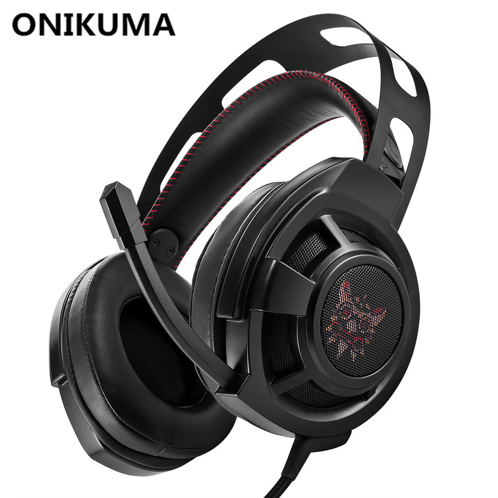 ONIKUMA M190 PC Gamer Headset Over Ear Best Gaming Headphones with Microphone for Computer Casque Bass Stereo Earphones Headsets 2017 top game headphones professional headset super bass over ear gaming with microphone stereo headphones for gamer pc computer