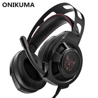 ONIKUMA M190 PC Gamer Headset Over Ear Best Gaming Headphones With Microphone For Computer Casque Bass