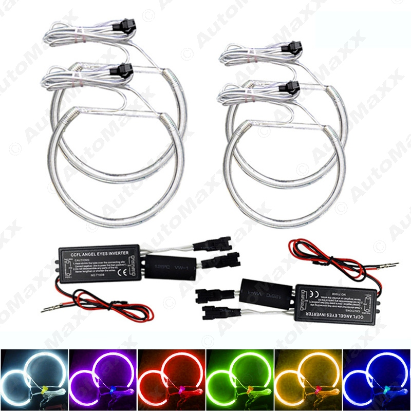 4Pcs/set 6-Color Car CCFL Halo Rings Angel Eyes LED Headlights for BMW E46(NON projector) Light Kits #J-4174