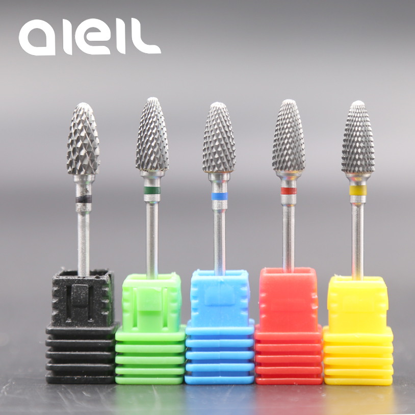 Image 3 - Tungsten Carbide Nail Drill Bits Milling Cutters For Manicure Nail Drill Bits Manicure Cutters For Nails Manicure Machine Cutter-in Electric Manicure Drills from Beauty & Health