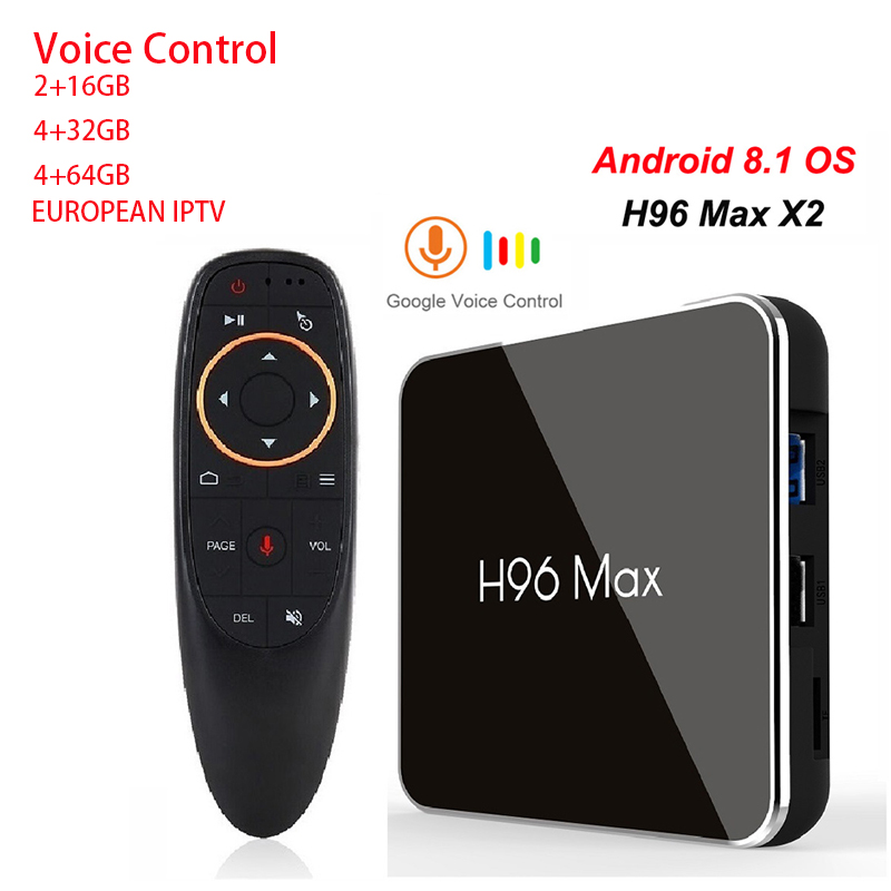 H96 MAX X2 Amlogic S905X2 Android 8 1 Internet TV BOX 4GB DDR 32 64GB 4K