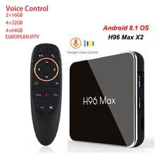 H96 MAX X2 Amlogic S905X2 Android 8,1 Интернет ТВ приставка 4 GB DDR 32/64 GB 4 K Интернет 1080 P H.265 Smart TV Интернет Декодер каналов кабельного телевидения