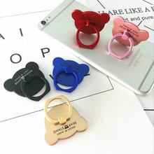 100pcs Luxury 360 cartoon bear ring stent Cell Phone Popsocket Holder Stand For iphone X 8