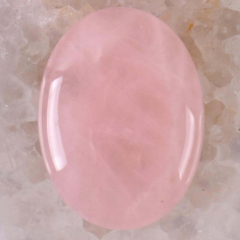 40x30MM Rose Crystal Stone Oval Cabochon CAB GEM Jewelry Making 1PCS H081