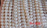 FREE SHIPPING Wholesale 10 11mm Natural Pearl Necklace String, Big Size Pearl Strand 38cm Long