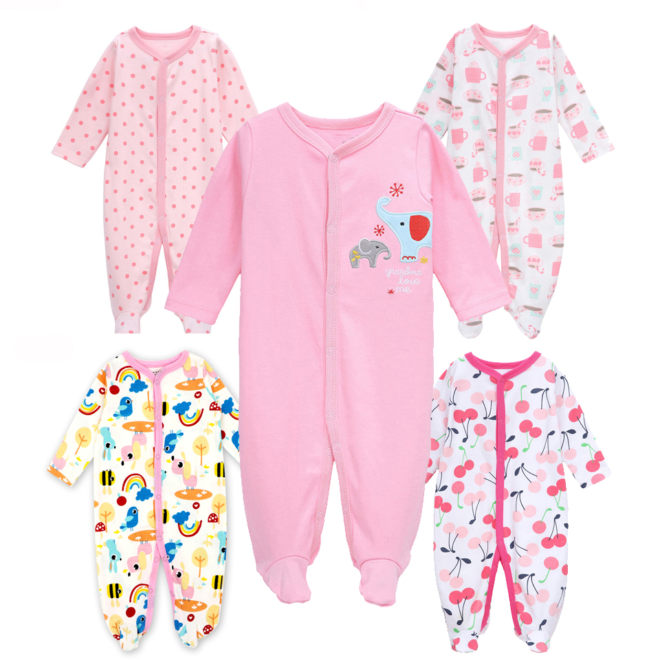 2018 Summer Newborn Baby Romper Cotton Long Sleeve Triangle Romper For Baby Boy And Girl Baby Clothes package foot crawl clothes