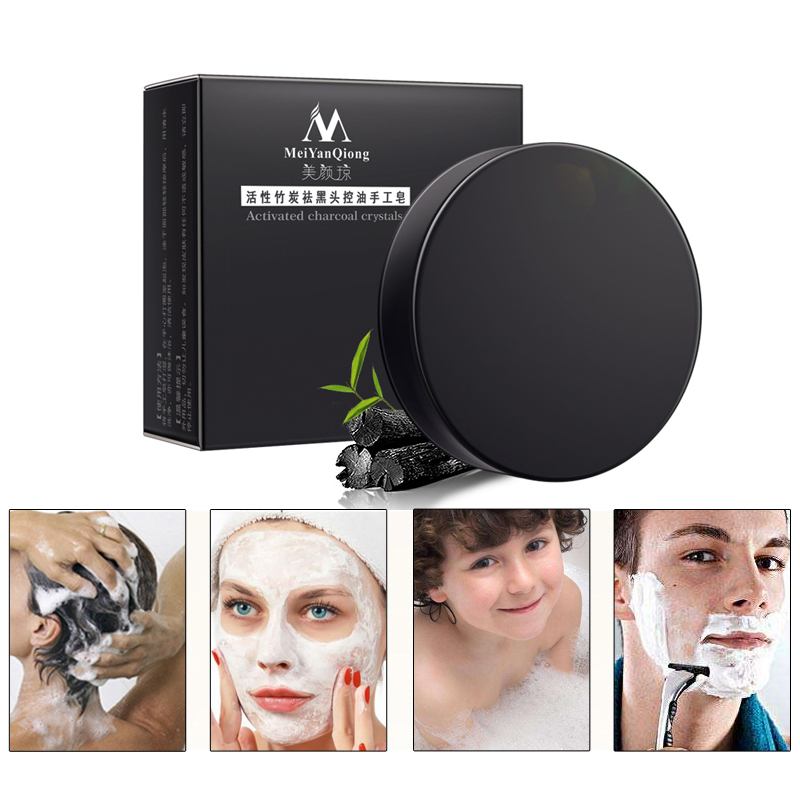 Bamboo Charcoal Handmade Soap Deep Cleaning Skin Whitening Soap Blackhead Remover Oil Control Face Care Bath Skin Care Maquiagem