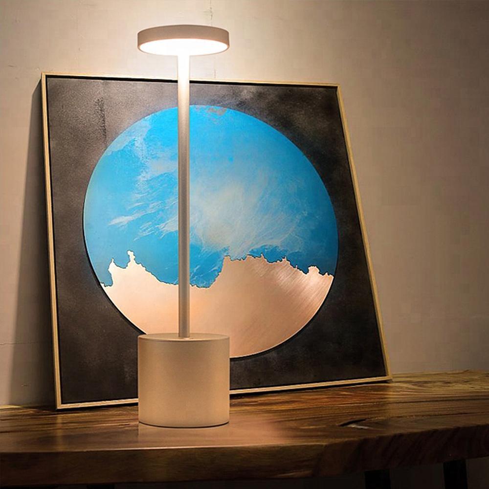 LED Table Lamp Modern Restaurant Dinner Light USB Rechargeable Creative Lighting Decor For Bar Hotel Dinning Room Waterproof 5
