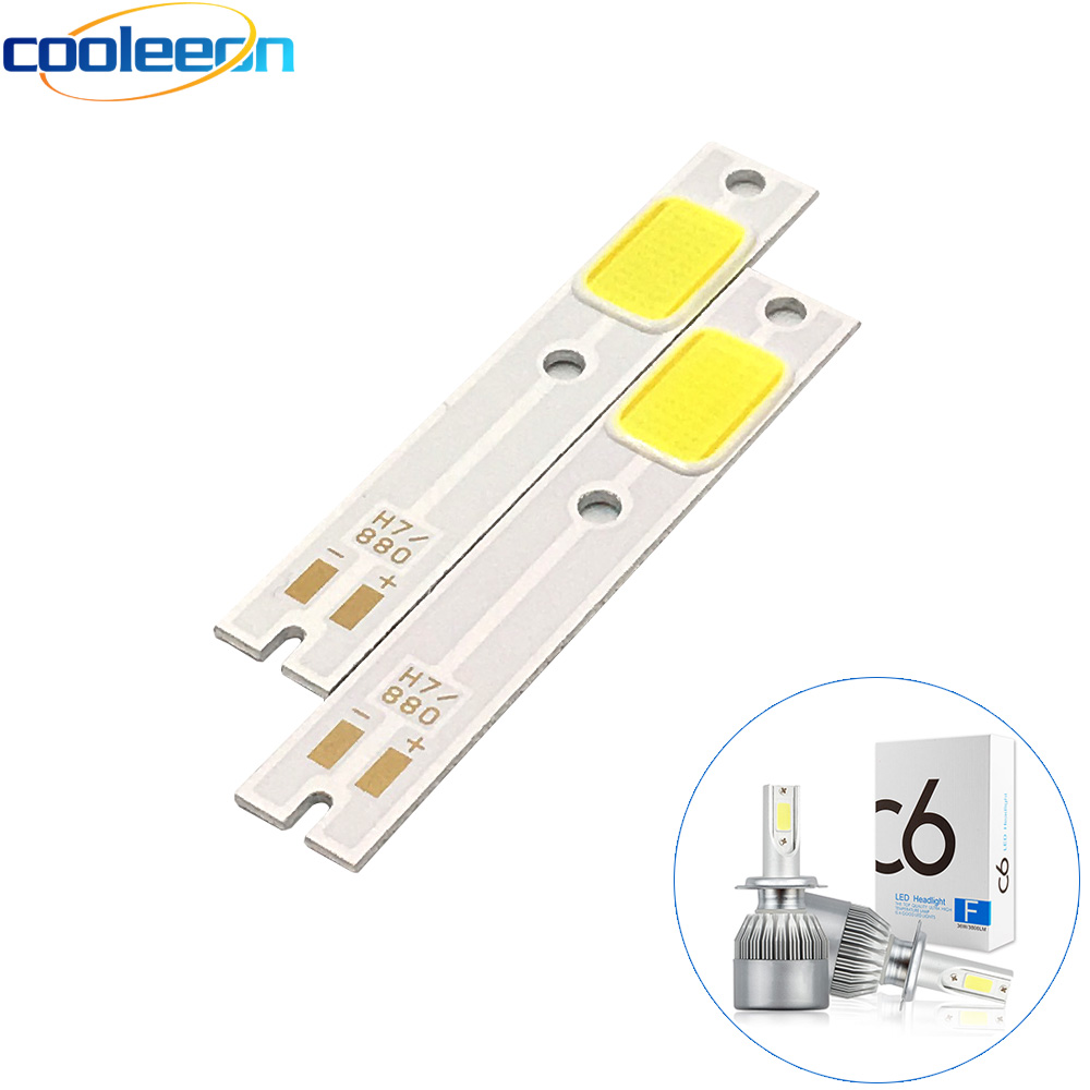 2PCS COB LED Strip For C6 Car Headlight Bulbs H1 H4 H7 HB3 HB4 880 H13 9004 9007 Auto Headlamp Light Source C6 COB Chip 6500K