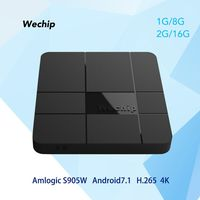 Wechip V8 Android 7 1 Smart TV Box WiFi Amlogic S905W 2 4GHz Quad Core 2