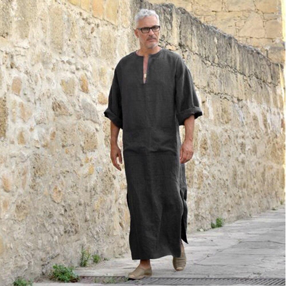 513547d9a93 Mens Clothing Robe Long Sleeve Saudi Arab Thobe Jubba Thobe Man Kaftan  Middle East Islamic Jubba Thobe Muslim Dressing#3 ~ Hot Deal June 2019