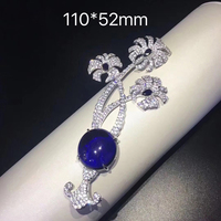 SHANICE DIY 110*52mm Link Big Connector CZ Micro Pave Stone paved Clasps Jewelry findings Micro Pave fluorial Flower Tassel