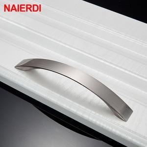 Image 3 - NAIERDI 10PCS Cabinet Handles Knobs Aluminum Alloy Door Kitchen Knobs Cabinet Pulls Drawer Furniture Handle Hardware