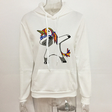 Women's Cartoon Unicorn Printed Hoodie