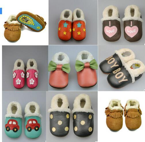 New Winter Keep Warm boots Baby Children Kids Moccasins Soft Moccs Prewalkers Shoes Kids Boy Girl Rubber Soled Outdoor Shoes