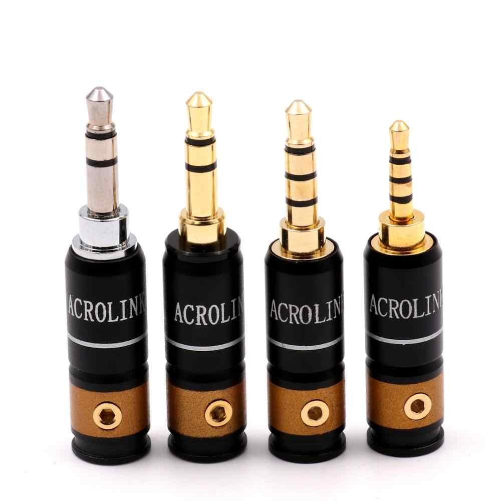 2.5/3.5/4.4mm HiFi Audio słuchawkowe słuchawki Jack złącze wtykowe czystego mosiądzu pozłacane 1 sztuk/partia