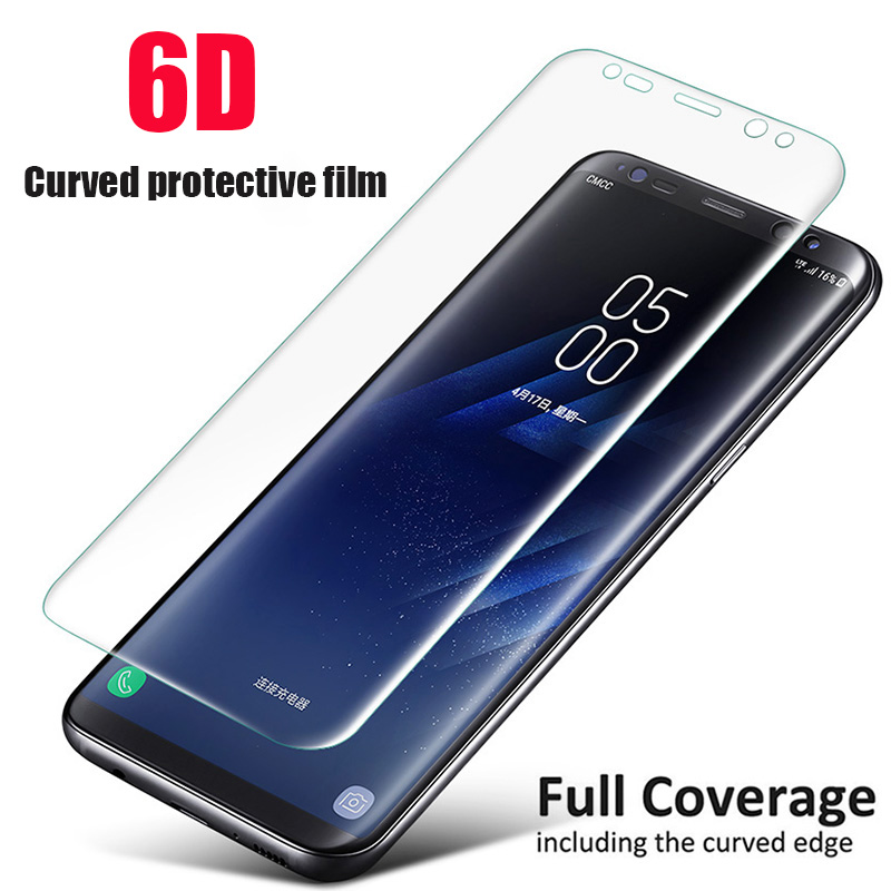 6D Soft Screen Protector Film For Samsung Galaxy S9 S8 Plus Note 9 8 Curved Protective Film For Samsung S7 S6 Edge (Not Glass)