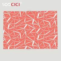 Custom Soft Fleece Gooien Deken Coral Decor Fractal Mix Geometrische Actieve zigzag Hand Getrokken Doodle Troebel Bold Strepen Oranje