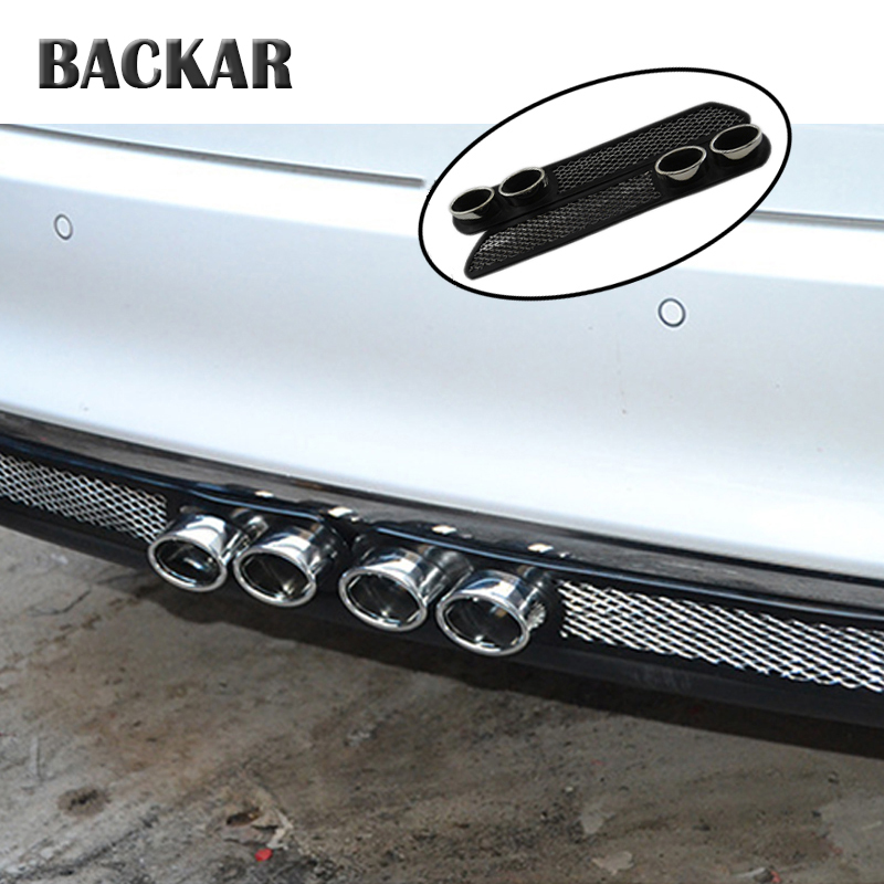 Backar For Volkswagen <font><b>VW</b></font> <font><b>Golf</b></font> <font><b>4</b></font> 5 7 6 MK4 Honda Civic 2006-2011 Accord 2003 Car Styling Auto Carbon <font><b>Exhaust</b></font> Stickers Accessories image