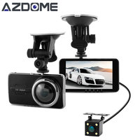 Azdome Y900 Dual Lens Car DVR Dash Cam NTK96658 Video Recorder 4 0inch IPS Full HD