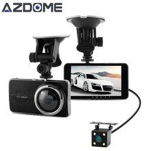 Azdome NTK96658 Y900 Dual Coche de la Lente DVR Dash Cam Video grabadora de 4.0 pulgadas IPS Full HD 1080 P 30fps H.264 g-sensor de Dos cámaras