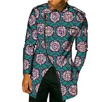New Design Africa Style Tops Dashiki Men Dress African Men Clothes Fashion Print Long Sleeve Man T-Shirt Costume Customize