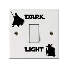 Star Wars Dark Side Light Side Switch Sticker Diy Removable Wall Decals For Kids Room Home Decor Vinyl Mural Art Posters