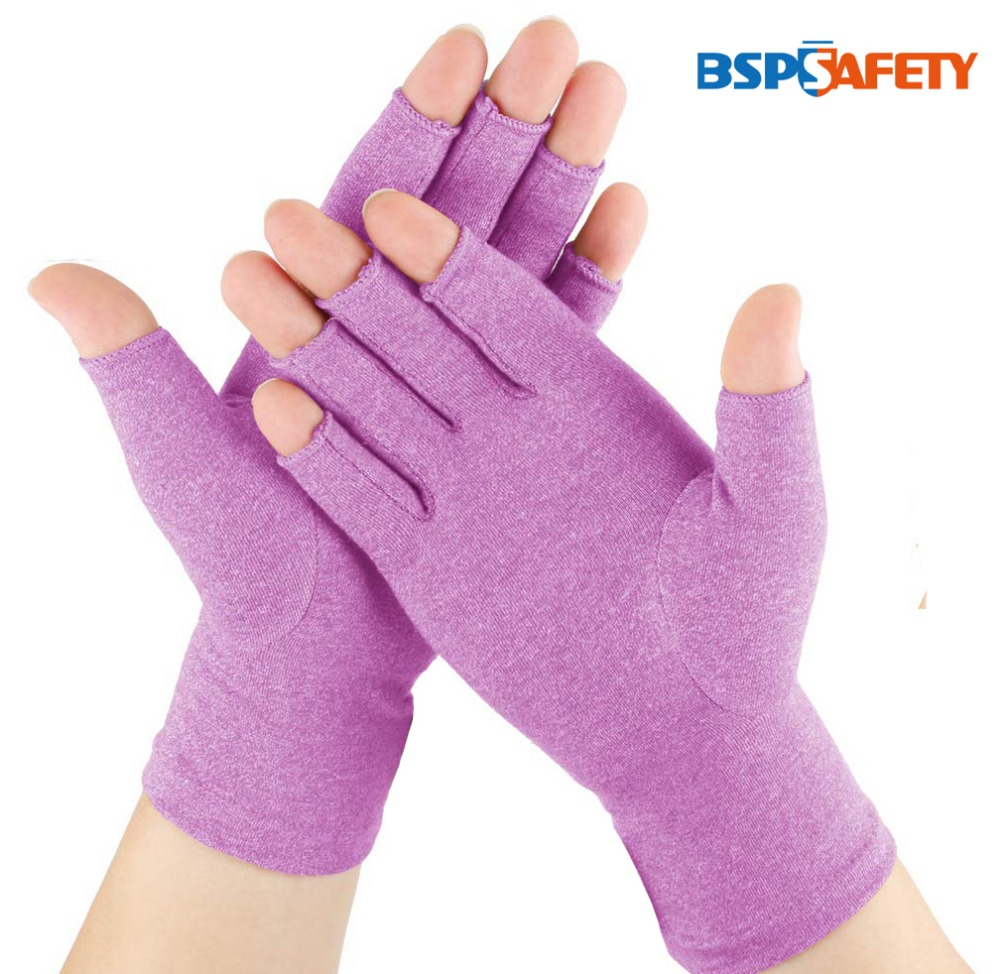 Pink Purple Women Arthritis Compression Gloves Relieve Pain From Rheumatoid, RSI,Carpal Tunnel, Hand Gloves