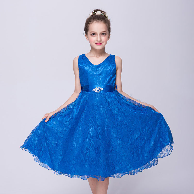 BacklakeGirls Hot Sale Princess Style   Dress   For First Communion Mulity Color Tulle Lace with Bow Cheap   Flower     Girls     Dresses