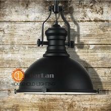 (Диаметр 32 см * H 35 см) Американский Старинные Чердак Цепи Подвесной Светильник Промышленность Стиль Лампа, Черный Fashional Подвесной Светильник Для Домашнего Декора