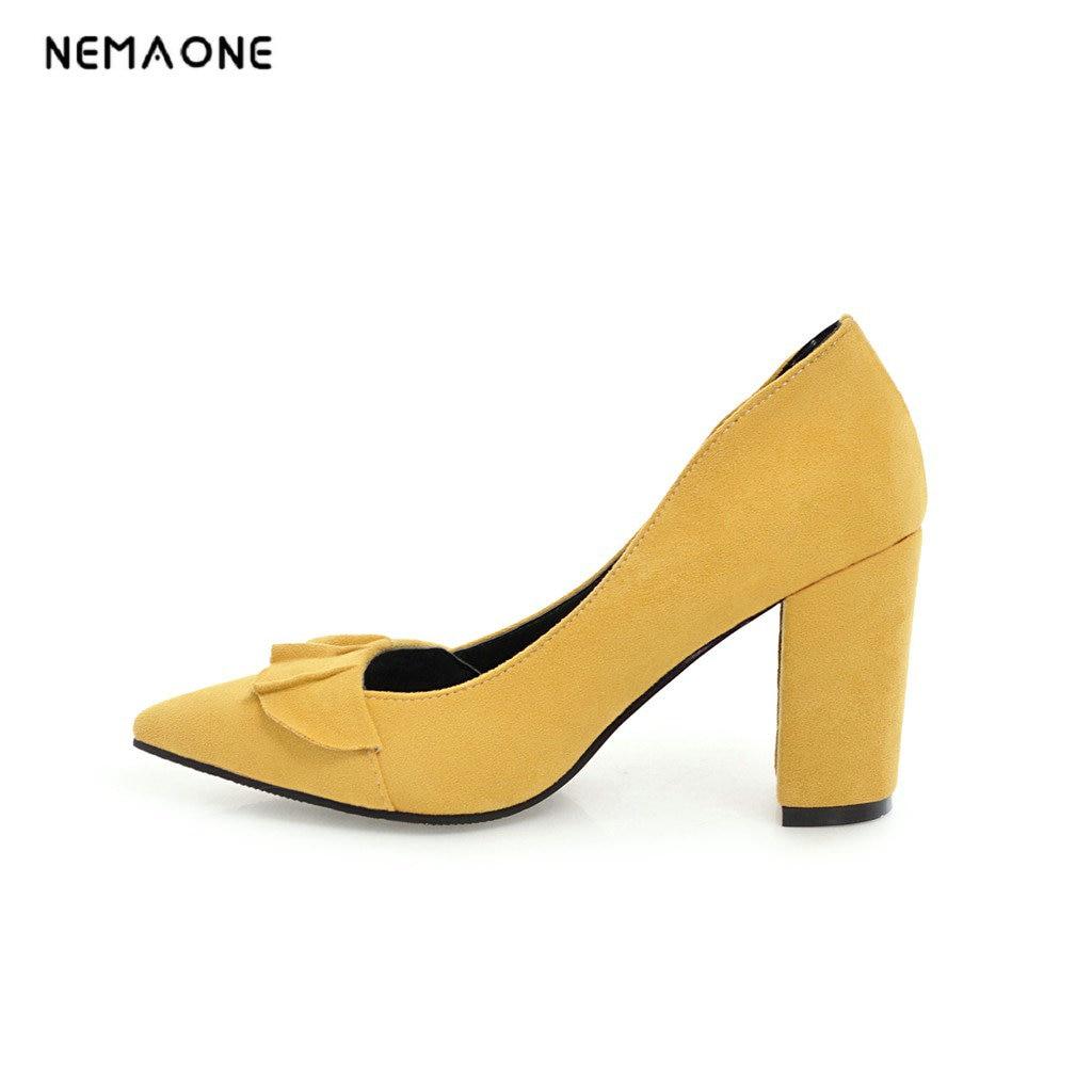 NEMAONE 2018 Brand Shoes Woman High Heels Pumps High Heels Women Shoes Wedding Shoes Pumps Black Shoes