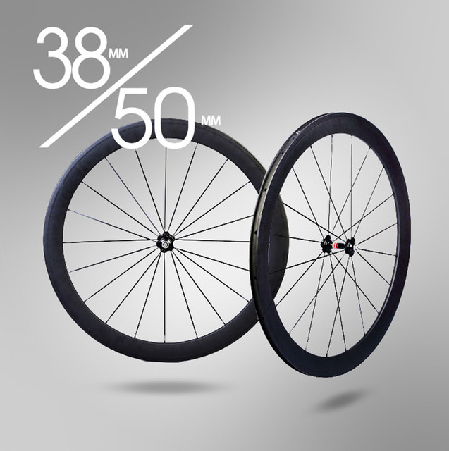 Cheap Bicycle Wheel Carbon 38mm clincher wheelset 700C Carbon Rim 50mm Clincher Wheelset Free Shipping