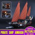 Лепин 16018 756 шт. Подлинная Новый властелин колец Серии Призрак Пиратский Корабль Набор Обучающие Кирпич Строительный Блок Игрушки 79008