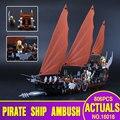 Lepin 16018 756 unids Genuino Nuevo El señor de los anillos de Serie el Fantasma Del Barco Pirata Conjunto de Bloques de Construcción de Ladrillo Juguetes Educativos 79008
