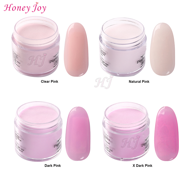 28g Box Clear Natural Dark Pink Easy To Use Dip Powder Nails Dipping Long Lasting No UV Light Needed Safe Odorless