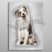 5D Diy Diamond Painting Australian Shepherd puppy Embroidery Full Mosaic Animals Pictures Home Decor Craft Kits