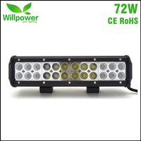 7200LMs CE Rohs 4x4 Offroad combo beam off road car 12 Inch 72W truck Led work Light Bar