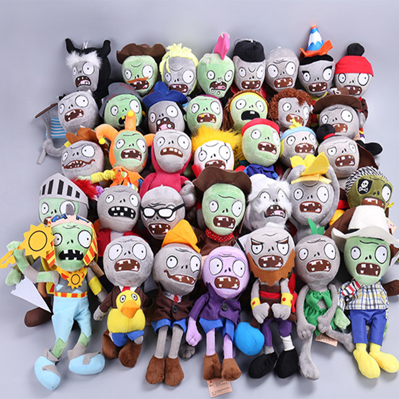 36 Styles Plants vs Zombies Plush Toys 12-28cm Plants vs Zombies Soft Stuffed Plush Toys Doll Baby Toy for Kids Gifts Party Toys hot sale plants vs zombies cucumber plush toy doll game figure statue baby toy for children gifts party toys