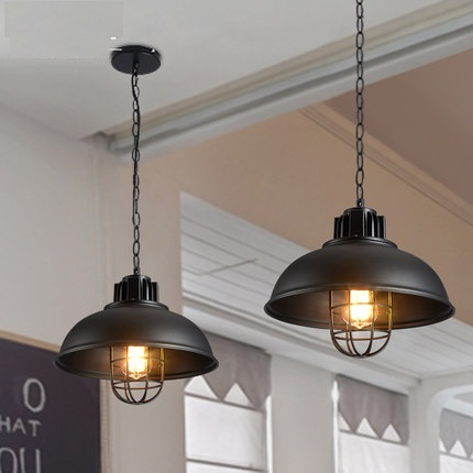 Loft estilo hierro colgante lámparas Edison industrial lámpara para ...
