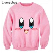 Liumaohua New cute cartoon Kirby Lovable Printed 3D men/womens sweatshirts Long sleeve shirts hoodies harajuku style pullovers t